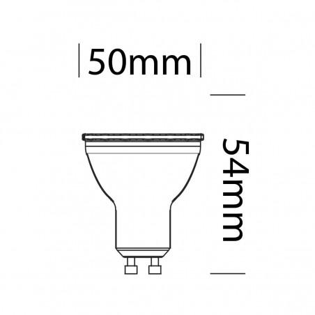 Bot Lighting Shot 6,5W LED Lampadina GU10 PAR16 230V Bianca
