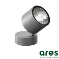 Ares Kirk 90 LED 13W 3000K Lampada Parete Soffitto Pavimento Esterno IP65 Grigio
