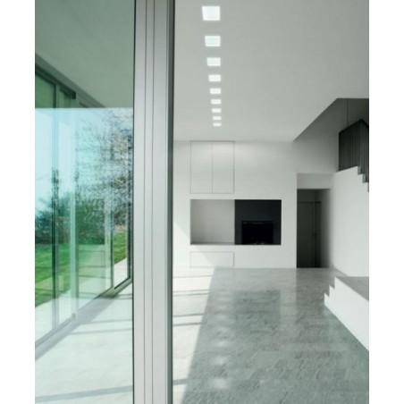 Lampo Faretto H55 GU10 Da Incasso a Soffitto In Gesso Quadrato Per Led