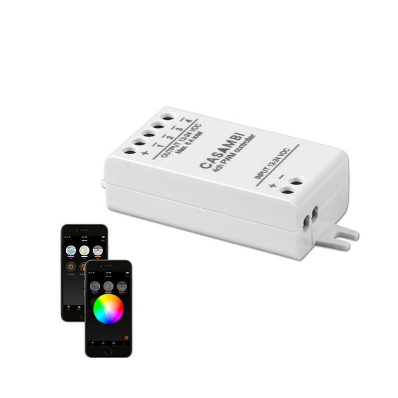 CASAMBI Interfaccia Wireless 12-24V CBU-PWM4 Dimmer Bluetooth 4.0 per RGBW e Bianco dinamico