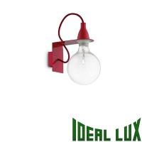 Ideal Lux Minimal AP1 Lampada da Parete Rosso