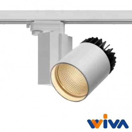 Wiva Baikal V LED 16W 3000K 35° 1302 lm Proiettore da Binario Bianco