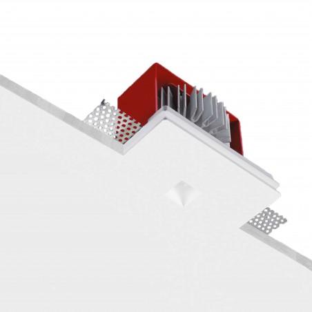 Buzzi & Buzzi Geniusquare Faretto LED da Incasso Rettangolare AirCoral Bianco