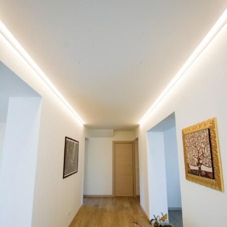Logica Onda Incasso Profilo Bianco A Scomparsa in Alluminio per Gole Luminose