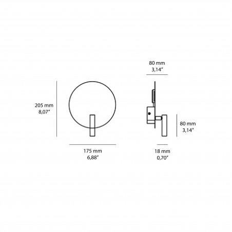 Logica Aurora Lampada Applique LED Orientabile da Parete per Interno a Doppia Emissione