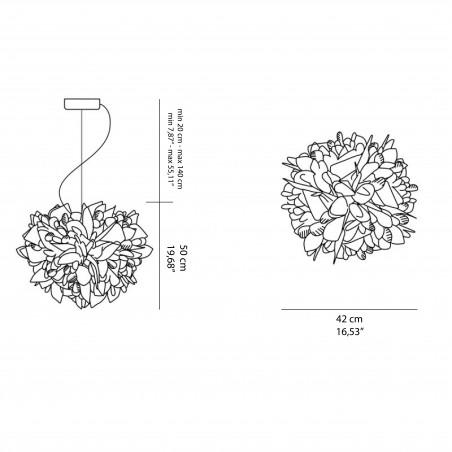 Slamp Veli Couture Suspension Lampada da Sospensione Dimmerabile Magnetic System By Adriano Rachele