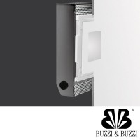 Buzzi & Buzzi Dry LED Recessed Spotlight Rectangular AirCoral White