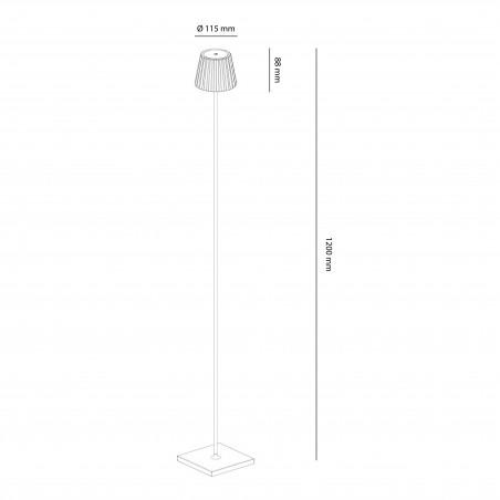 Mantra K2 Lampada da Terra LED Dimmerabile a Batteria Ricaricabile IP54 da Esterno