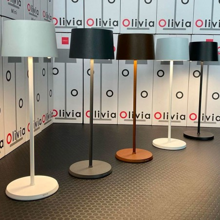 Ai Lati Olivia LED Lampada da Tavolo A Batteria USB Ricaricabile Per Esterno