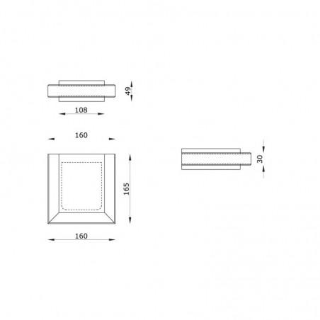 Ares Steel Module Applique Lampada Esterno Acciaio Inox Vetro IP54