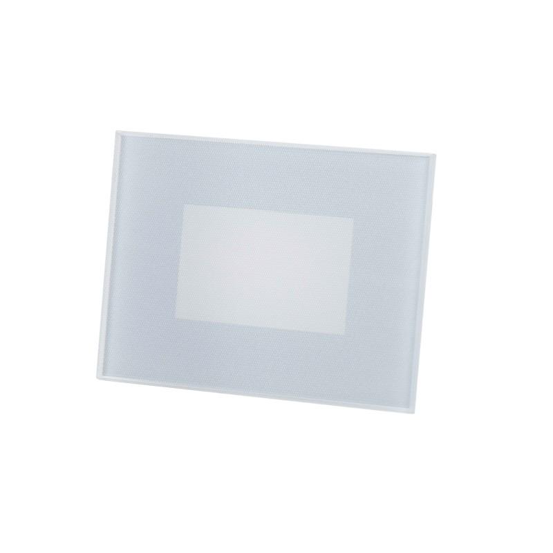Lampo Segnapasso in Vetro TRICOLOR LED Dimmerabile Rettangolare Da Incasso 5W Per Scatole Standard 503 IP66