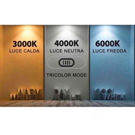 Lampo Segnapasso TRICOLOR LED Dimmerabile Rettangolare Da Incasso 3.2W Per Scatole Standard 503