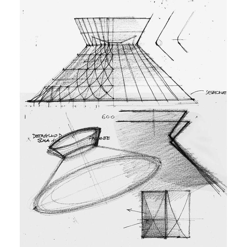 Sugegasa led suspension ceiling lamp clear ros studio for Suspension led design