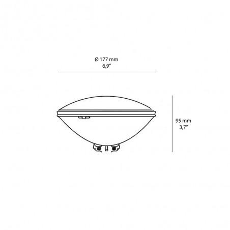 Duralamp PAR56 Lampada Piscina LED 17W RGB 12V IP68 Cambia Colore