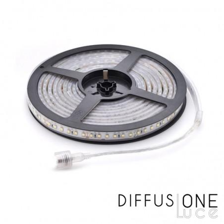 Strip LED 24W 4.8W/mt 24V 3000K Dimmable LED2838 IP68 Waterproof - 5 mt