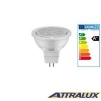 Attralux LED GU5.3 8W-50W 4000K 630lm 36° Luce Fredda Lampadina