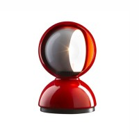 Artemide Eclisse E14 25W Table Lamp Red By Vico Magistretti