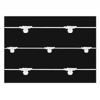 Lampo Catenaria Luminosa Cordoniera Bianco 11 Portalampada E27 12,5 metri IP65 Uso Esterno Prolungabile impermeabile
