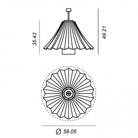 Artemide Les Danseuse Fan Ceiling Suspension LED Lamp Blue