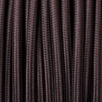 Cavo Elettrico 2X o 3X Tondo in Tessuto Colore Marrone