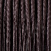 Electrical Round Cable 2X o 3X 5 meters in Fabric Brown