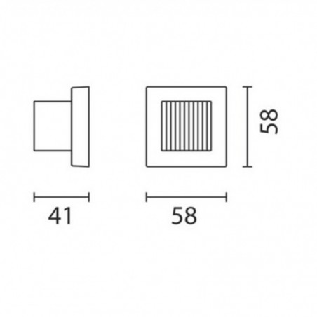 IGuzzini BC27 Glim Cube LED RGB change color Applique wall outdoor