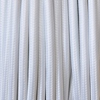 Electrical Round Cable 2X o 3X 50 meters in Fabric White