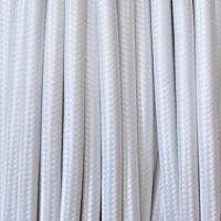 Cavo Elettrico 2X o 3X 50 metri Tondo in Tessuto Colore Bianco