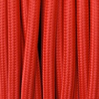 Electrical Round Cable 2X o 3X 50 meters in Fabric Red