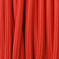 Cavo Elettrico 2X o 3X 50 metri tondo in Tessuto Colore Rosso