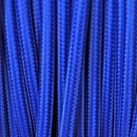 Cavo Elettrico 2X o 3X Tondo in Tessuto Colore Blu