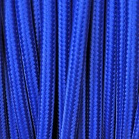 Electrical Round Cable 2X o 3X 50 meters in Fabric Blue