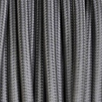 Electrical Round Cable 2X o 3X 50 meters in Fabric Grey