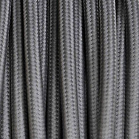 Electrical Round Cable 2X o 3X in Fabric Grey
