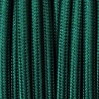 Electrical Round Cable 2X o 3X 50 meters in Fabric Petrol Green
