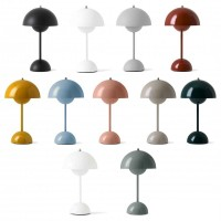 &Tradition Flowerpot VP9 Wireless Dimmable LED Table Lamp wit Rechargeable Battery IP44 By Verner Panton
