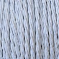 Cavo Elettrico 2X o 3X 50 metri Treccia in Tessuto Colore Bianco