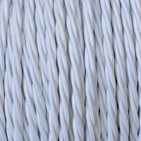 Electrical Twisted Cable 2X o 3X 50 meters in Fabric White