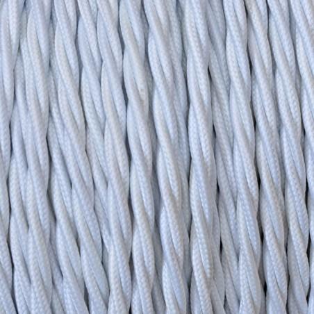 Cavo Elettrico 2X o 3X Treccia in Tessuto Colore Bianco