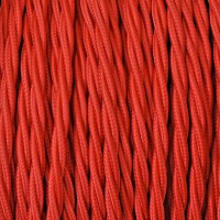 Electrical Twisted Cable 2X o 3X 50 meters in Fabric Red