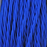 Electrical Twisted Cable 2X o 3X 50 meters in Fabric Blue