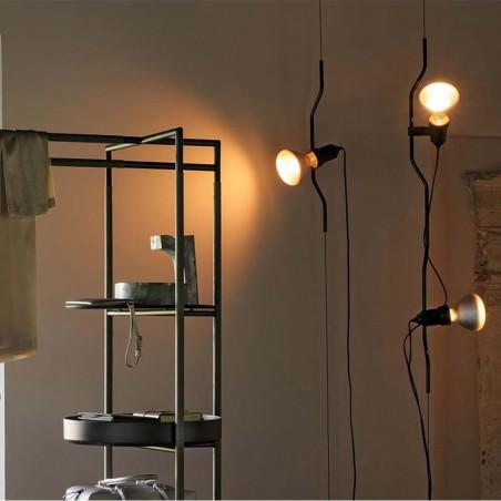 Flos Parentesi Suspension Pendant Lamp Dimmable Black by Achille Castiglioni & Pio Manzù