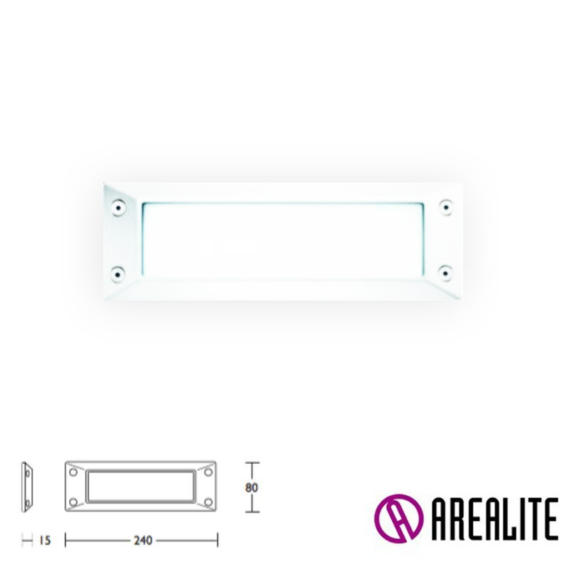 Arealite Input Anello Outdoor Recessed Lamp Marker E27 1x60W IP65
