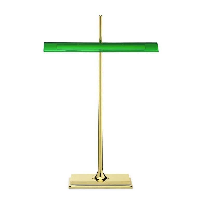Flos Goldman LED Lampada da Tavolo Ottone/Verde
