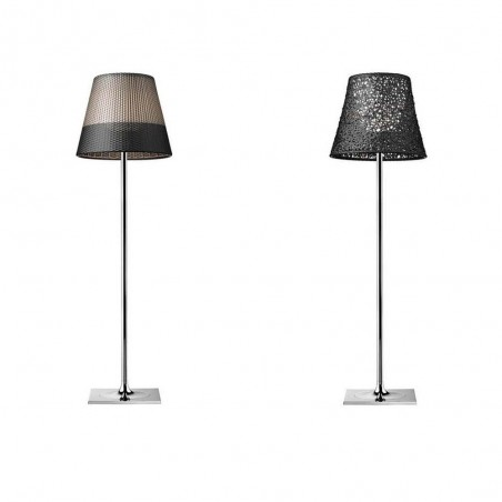 Flos KTribe F3 Outdoor Floor Lamp diffused light in galvanized aluminum by Philippe Starck