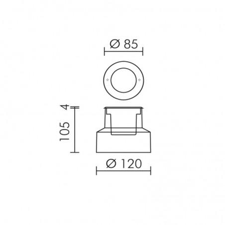 Simes Microzip S.5888.19 Recessed Floor Spotlight IP67