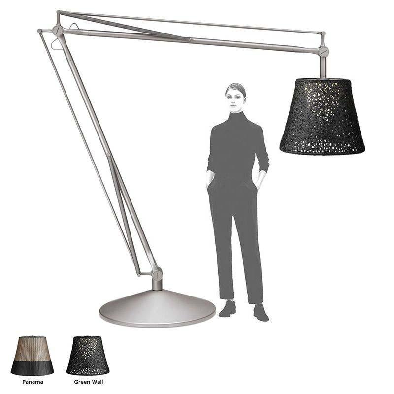 Flos Superarchimoon Outdoor Lampada Da Terra Per Esterno in alluminio fosfocromatato Archimoon by Philippe Starck