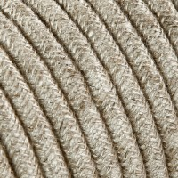 Electrical Round Cable 2X o 3X 50 meters in Fabric Canvas Beige