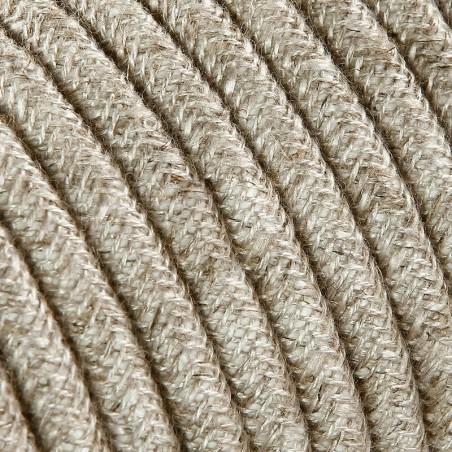 Cavo Elettrico 2X o 3X Treccia in Tessuto Colore Tela Beige