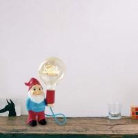 I Viaggi di Elio Dwarf LED Dimmable Table Lamp in Ceramic with Decorative Filament